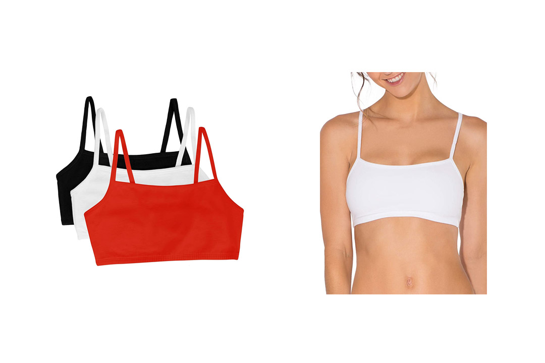 Fruit of the Loom Women's Cotton Pullover Sports Bra