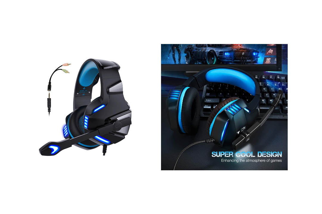 Gaming Headset for PS4 Xbox One, Micolindun Over-Ear Gaming Headphones