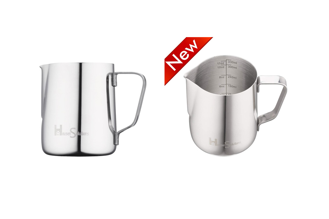Milk Frothing Pitcher - Housen Solutions Stainless Steel 304 with Milk Frother