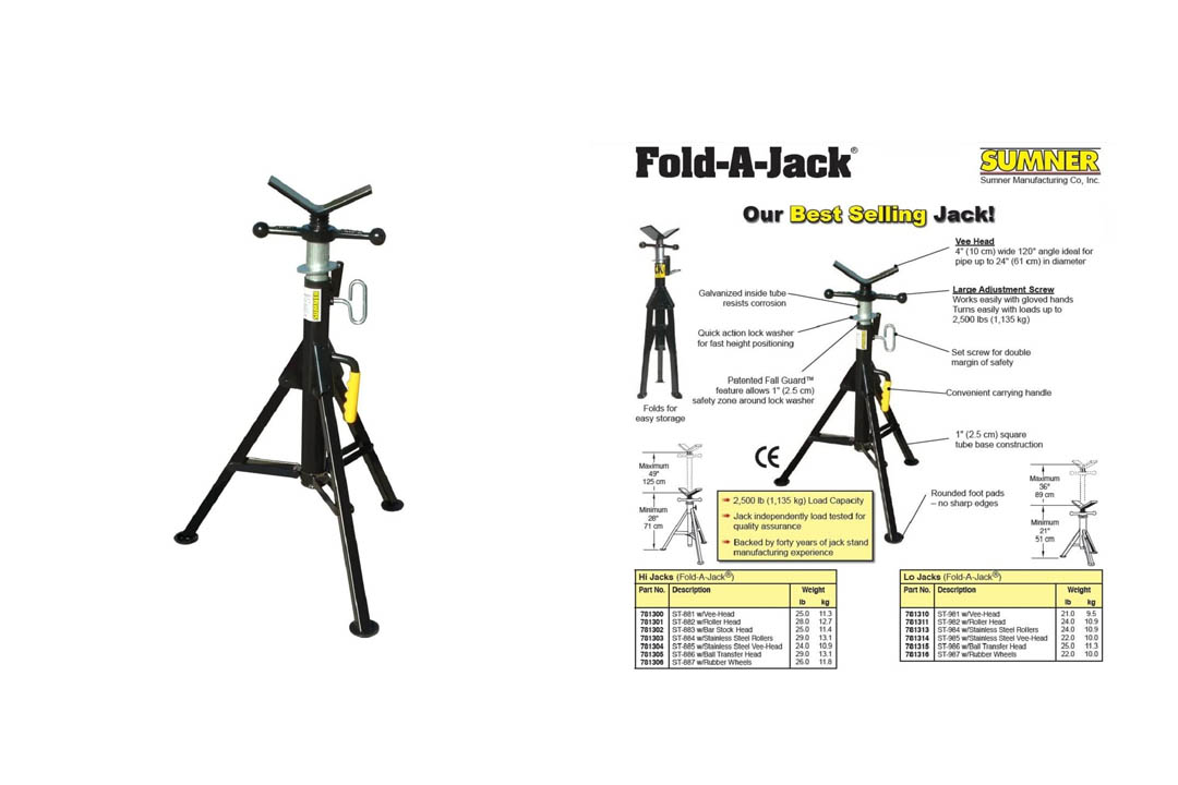 Sumner ST-881 Hi Fold-A-Jacks with V-Head