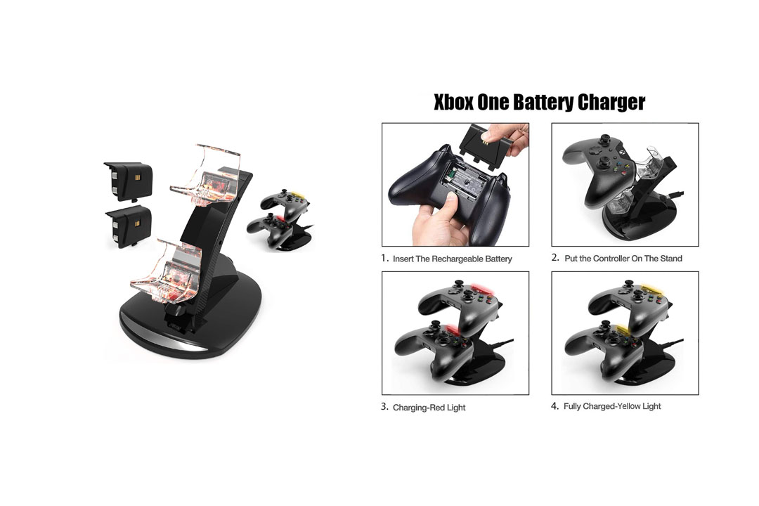 Xbox One / One S Controller Charger. Xbox One Dual Docking Charging Station YCCSKY