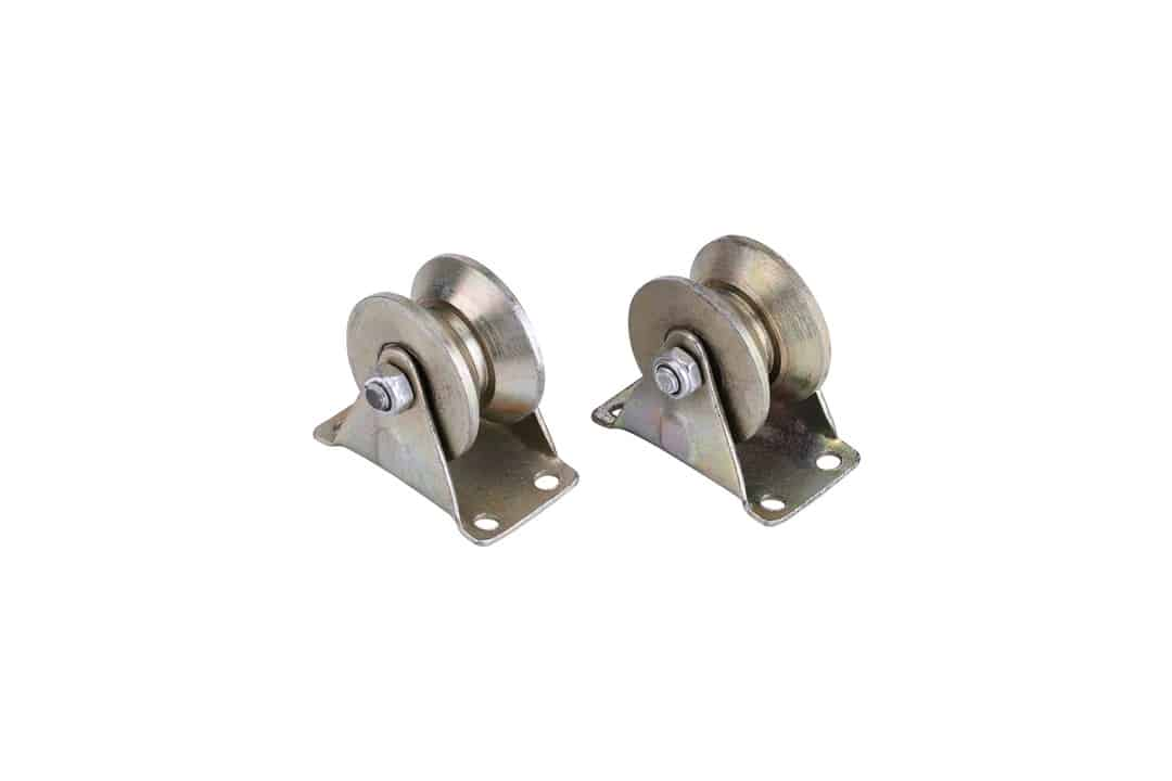 "2Pcs/Set 2"" V Type Sliding Gate Roller V Groove Wheel Track Rail for Sliding Gate Track"