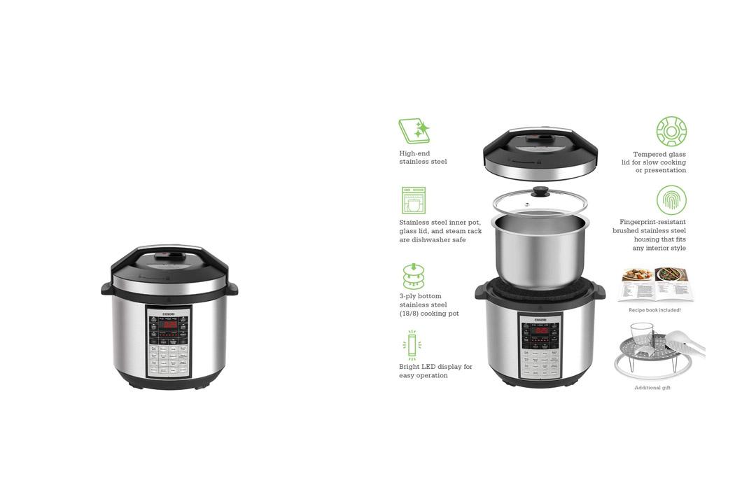 COSORI 6 Qt Premium 8-in-1 Programmable Multi-Cooker and Rice Cooker