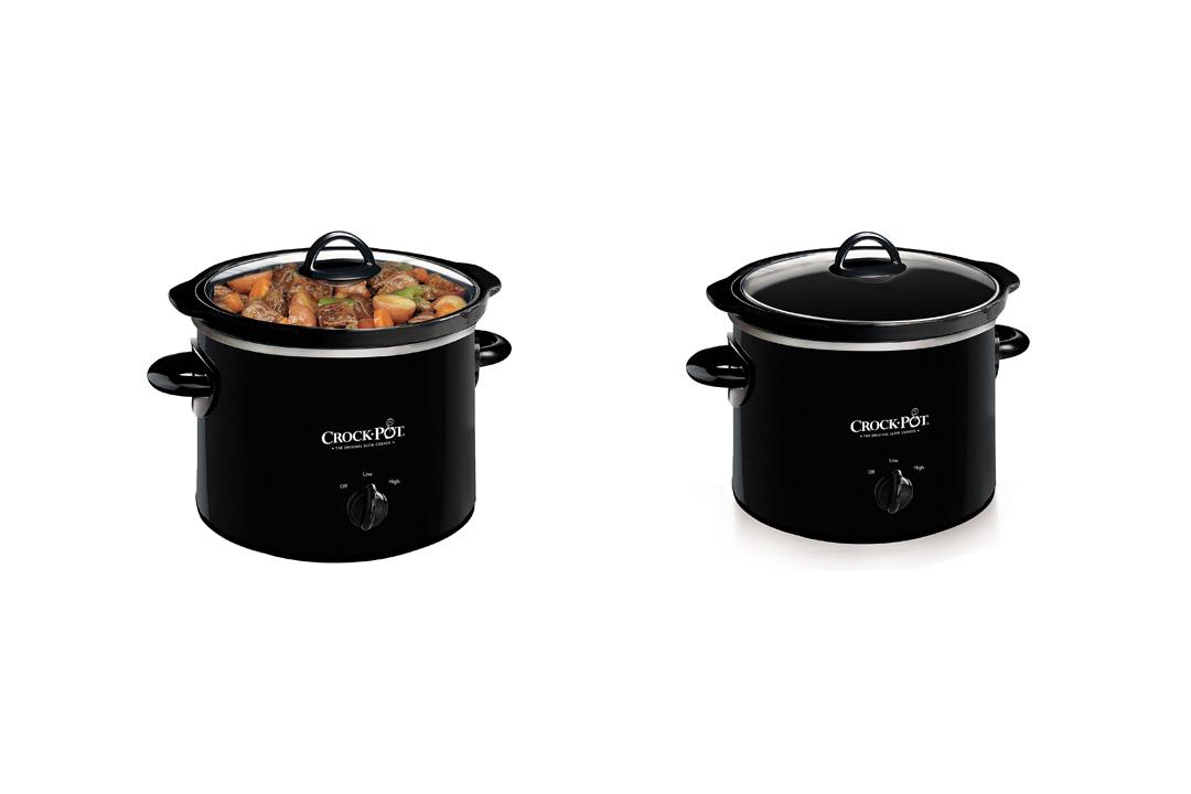 Crock-Pot 2-QT Round Manual Slow Cooker, Black