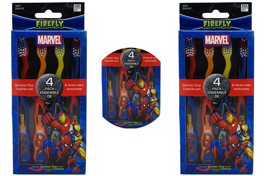 Dr. Fresh Marvel Heroes Suction Cup Toothbrushes