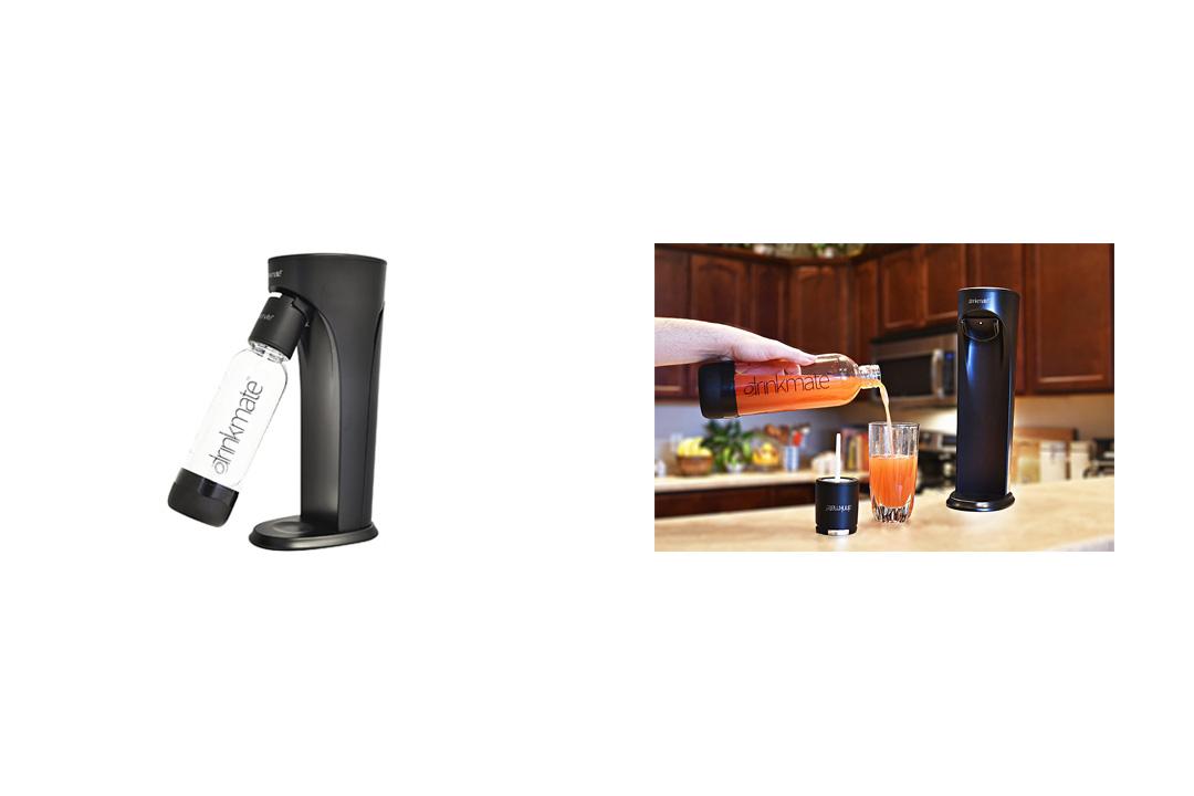 Drinkmate Beverage Carbonation Maker with 3 oz Cylinder, Matte Black