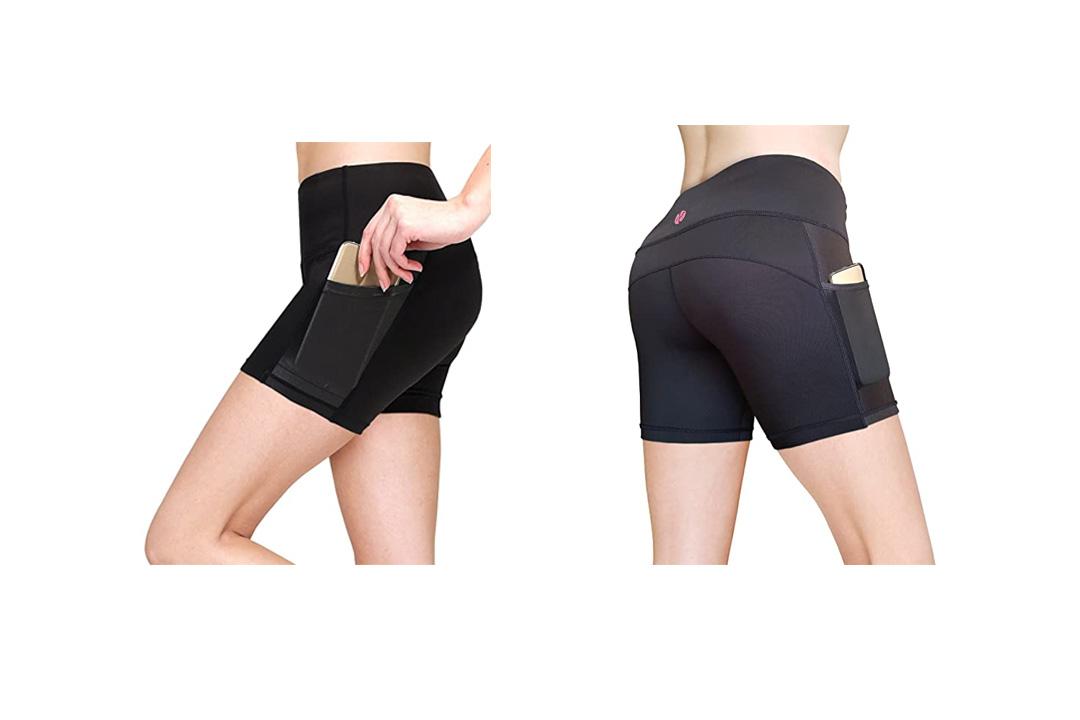 MYoga Women's Yoga Pants Workout Leggings w Side Pockets