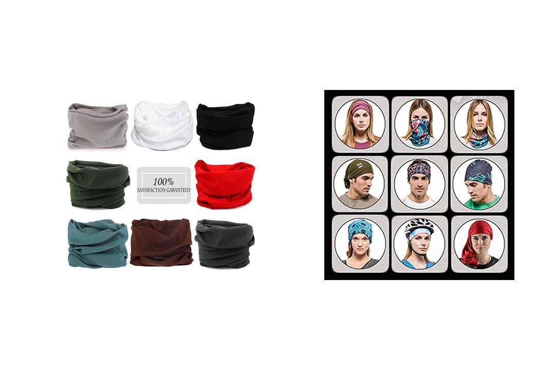 N'joy 8PCS Magic Sports Headband with UV Protection