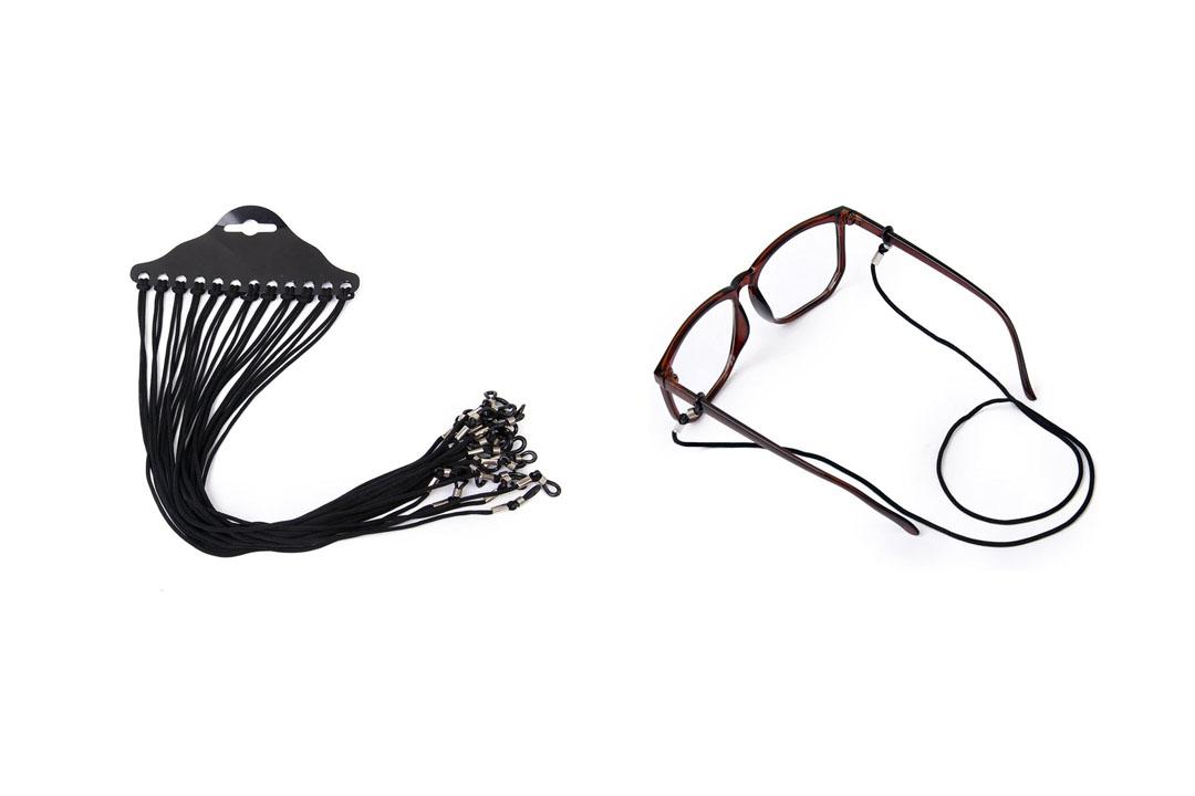 Tinksky 12pcs Nylon Eyeglass/Spectacle/Sunglass/Eyewear Cord Holder Neck String Gifts for Mothers (Black)