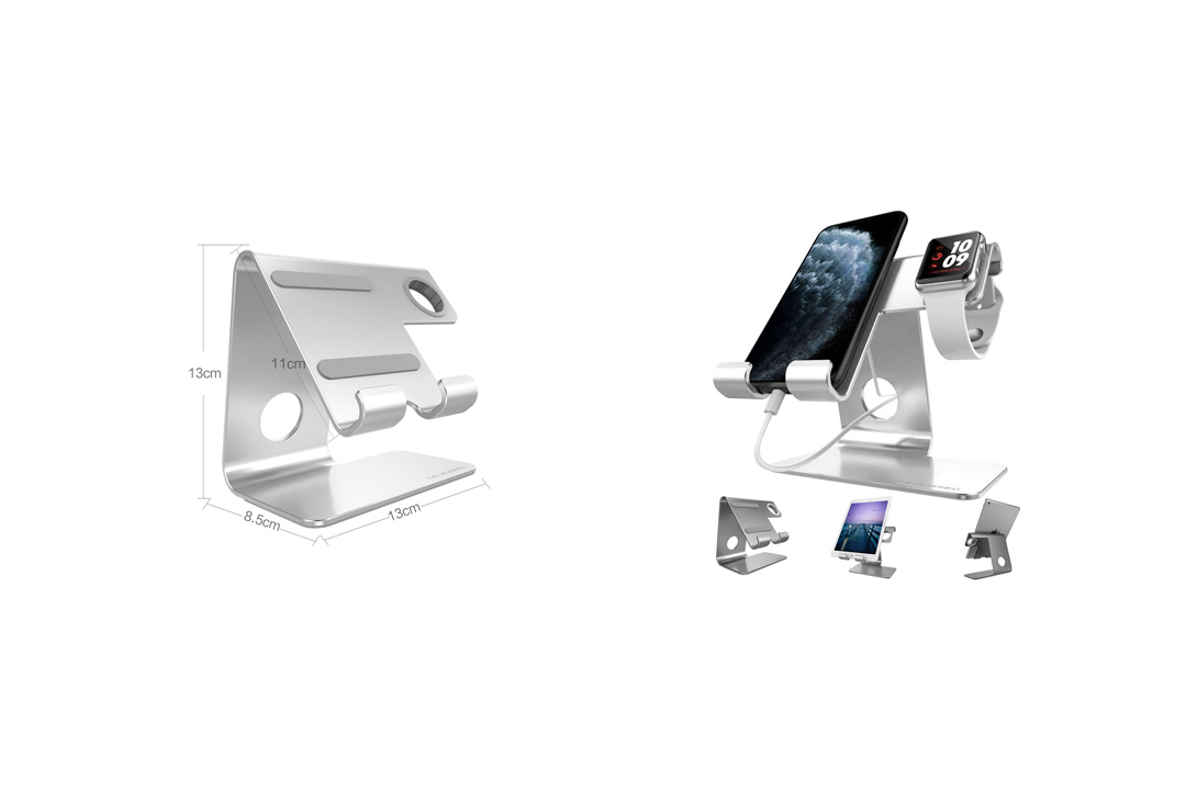 Universal IPhone Stand, ZVE iwatch charger stand and Tablet Stand Dock Holder Cradle