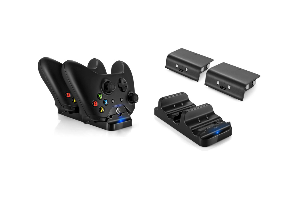 Xbox One Dual Charging Dock Charger Station with 2 Rechargeable Batteries Infinite Power