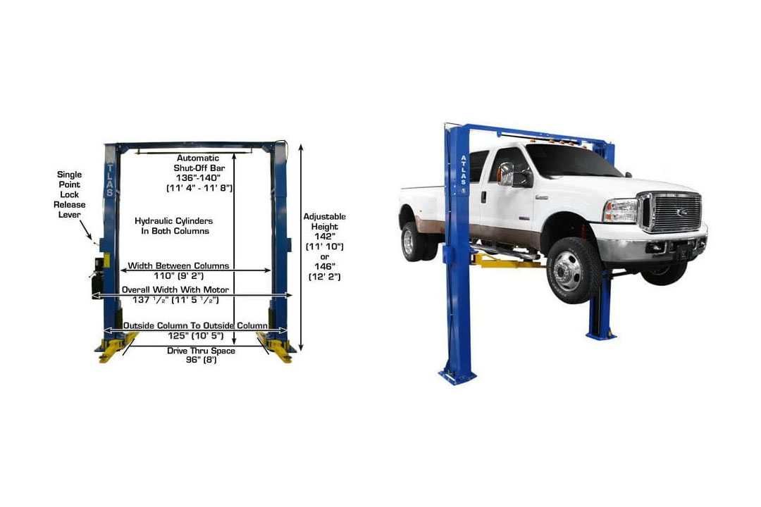 Atlas PV-10P Overhead 10,000 lbs. Capacity Adjustable Ground Lift