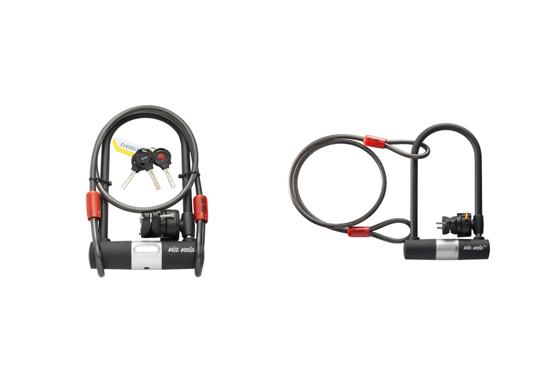 Bike U Lock with Vandalproof Cable