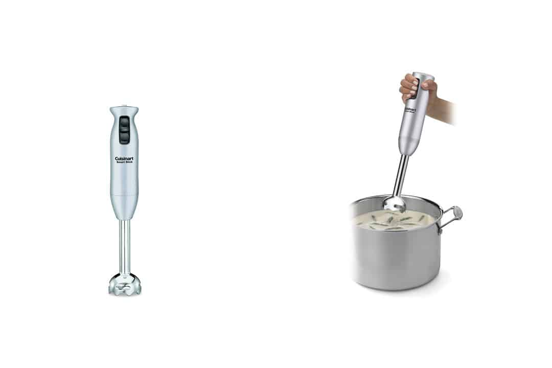 Cuisinart CSB-75BC Smart Stick 200 Watt 2 Speed Hand Blender, Brushed Chrome