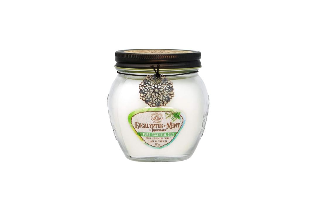 Eucalyptus Spearmint & Rosemary Candle 17 oz Jar -Stress Relief Gift