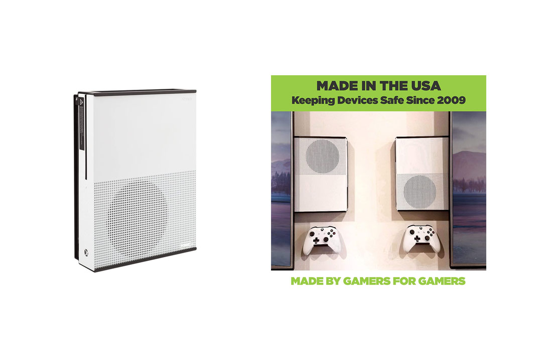 HIDEit X1S Mount (Black) - Xbox One S Wall Mount - Made in the USA