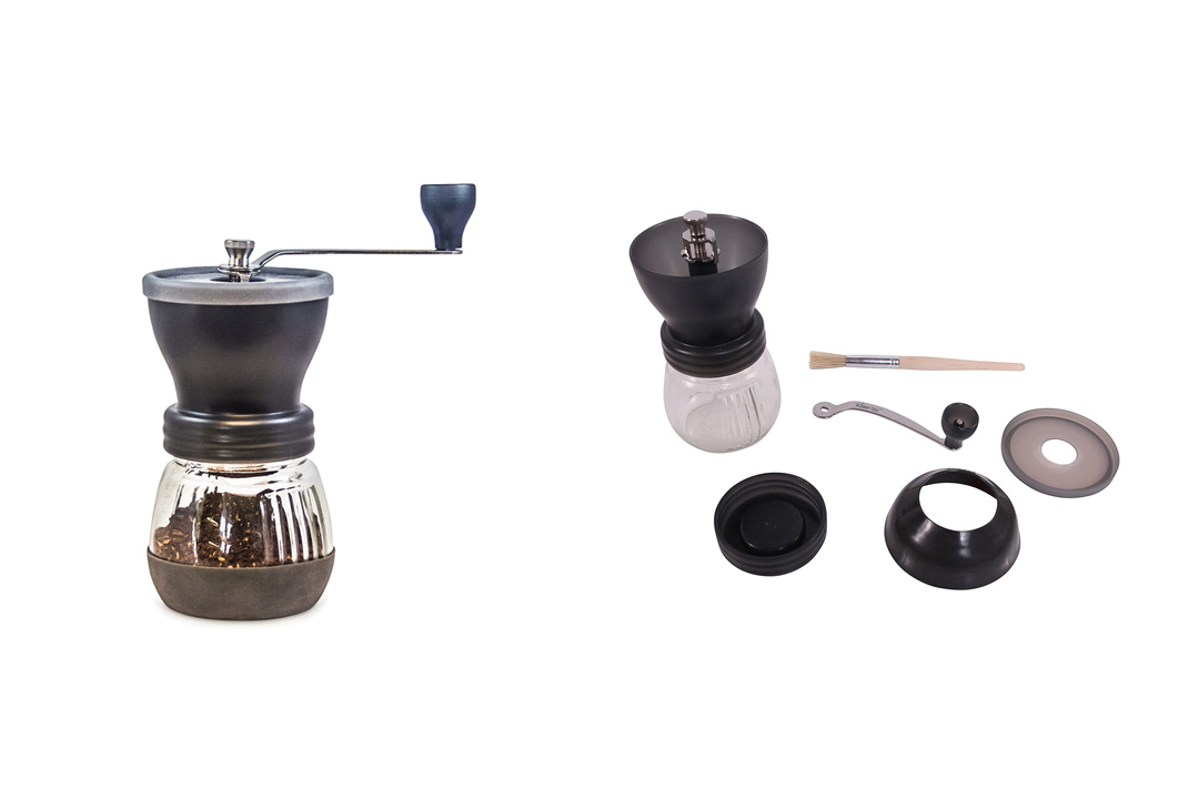 Khaw-Fee HG1B Manual Coffee Grinder with Conical Ceramic Burr - Because Hand Ground Coffee Grinder
