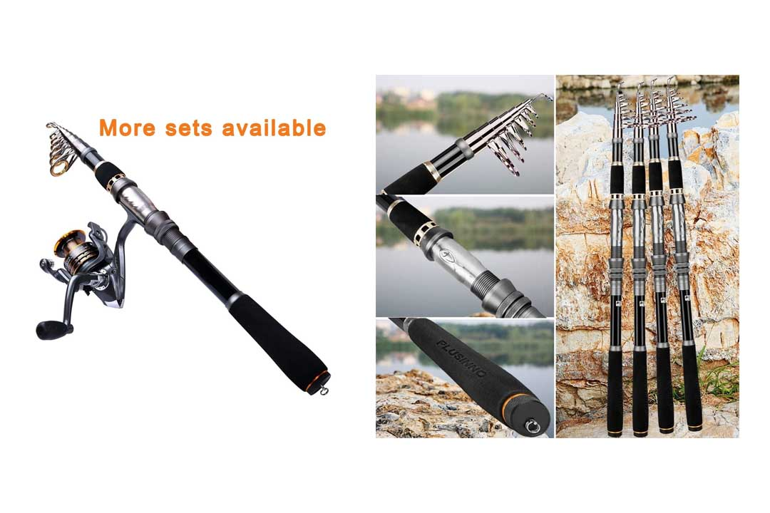 PLussinno Telescopic Fishing Rod and Reel Combo