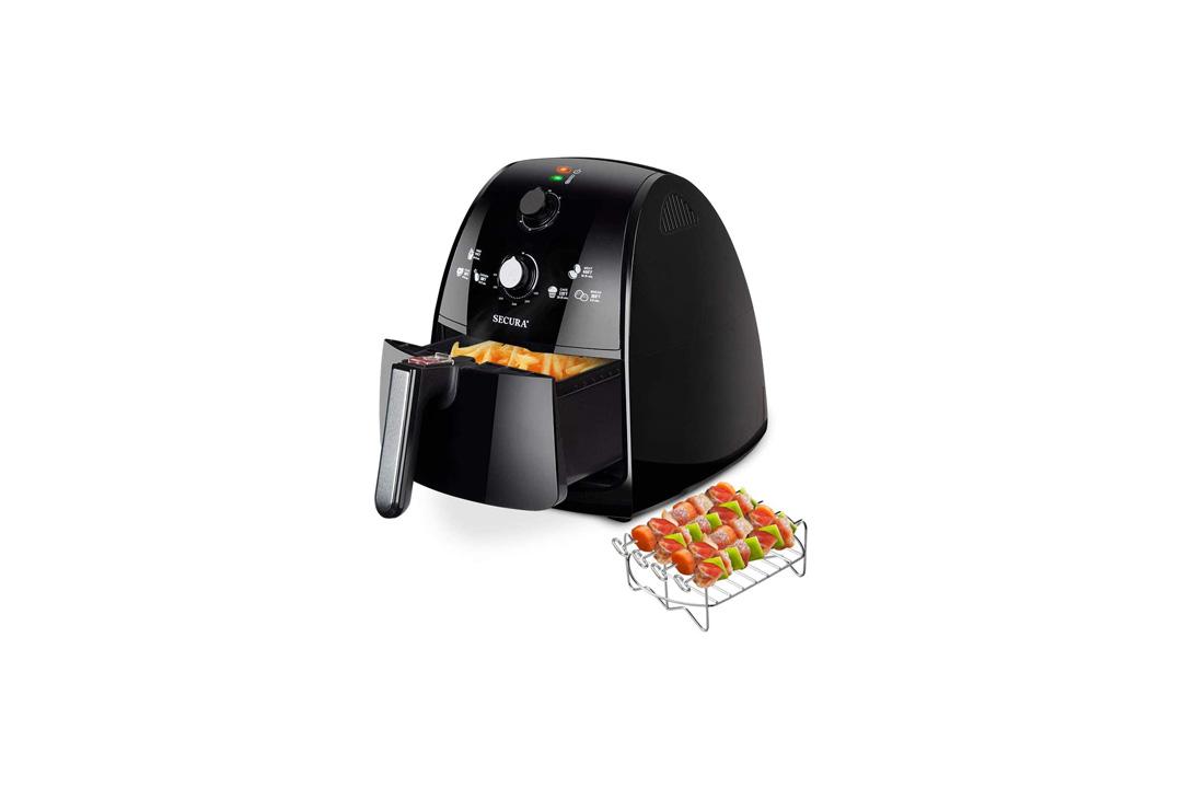 Secura 4 Liter, 4.2 Qt., Extra Large Capacity 1500 Watt Electric Hot Air Fryer