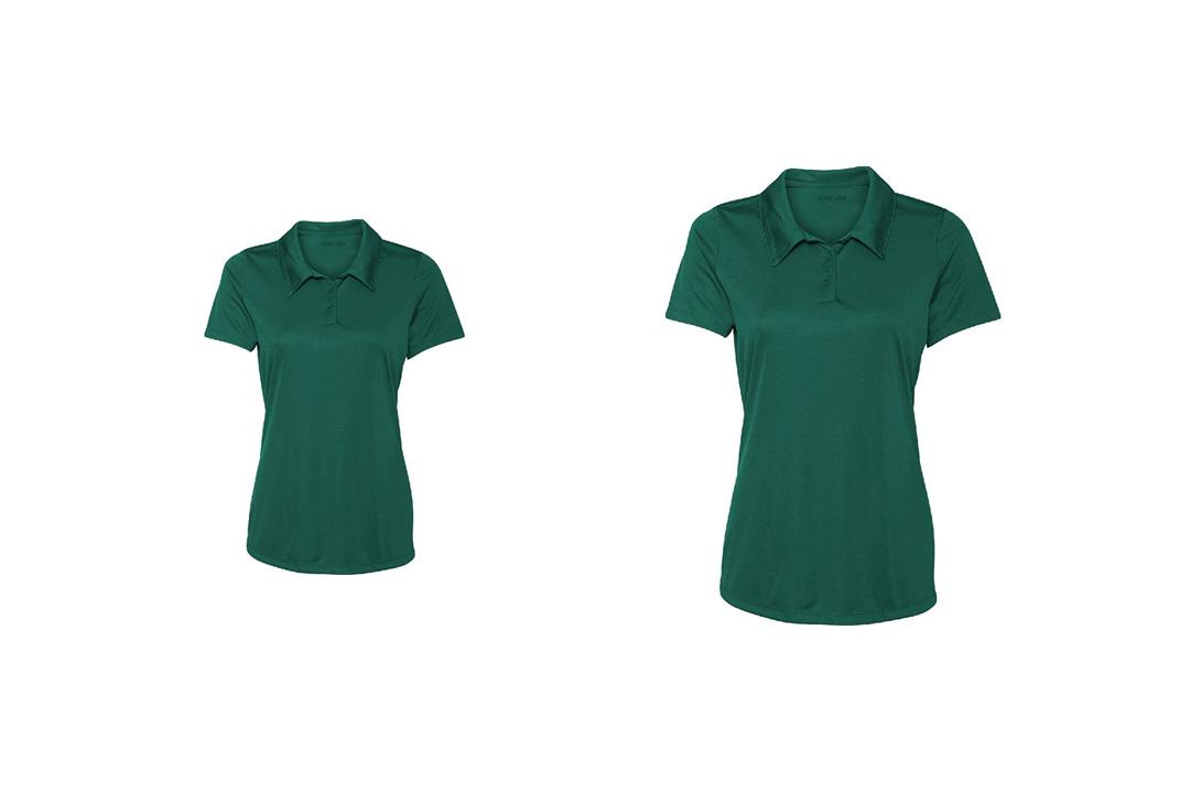 Women's Dri-Equip Golf Polo Shirts 3-Button Golf Polo