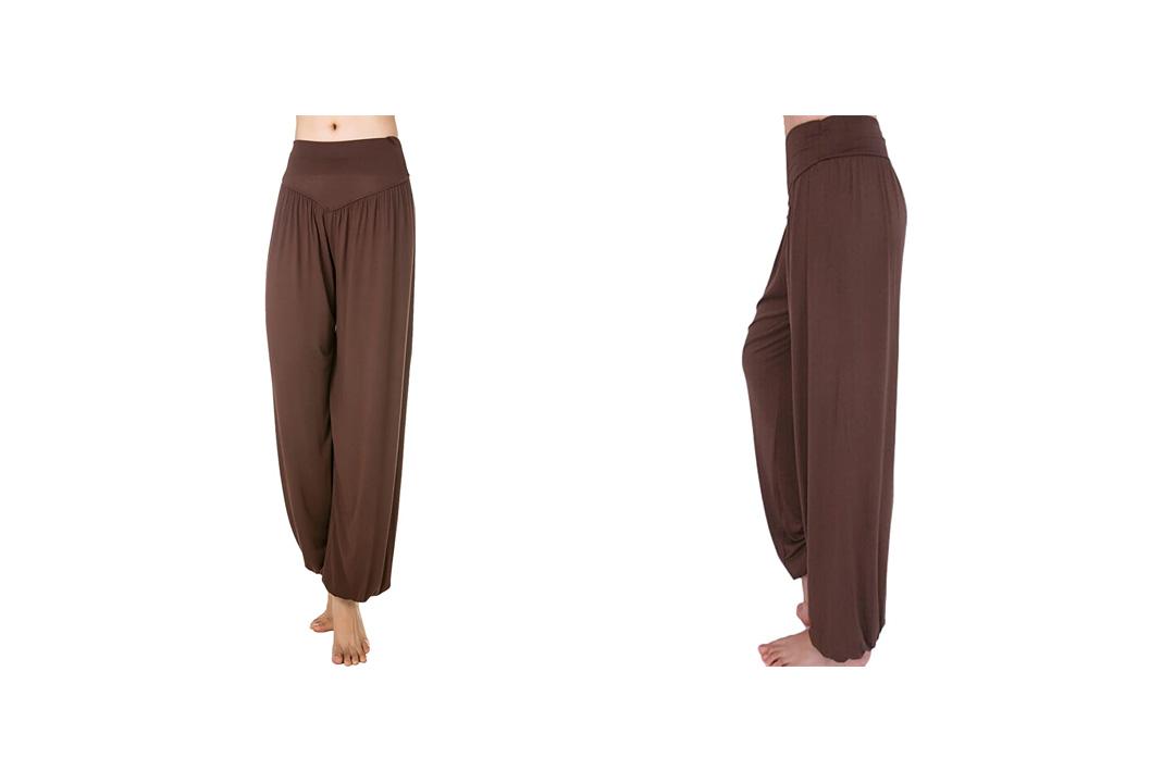 Women's' Solid Color Soft Elastic Waistband Fitness Yoga Harem Pants