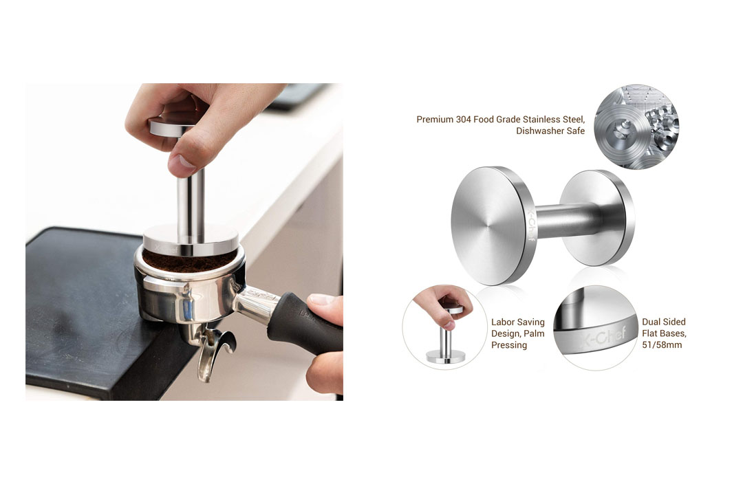 X-Chef Tamper for Espresso 51/ 58mm Coffee Grounds Tamper