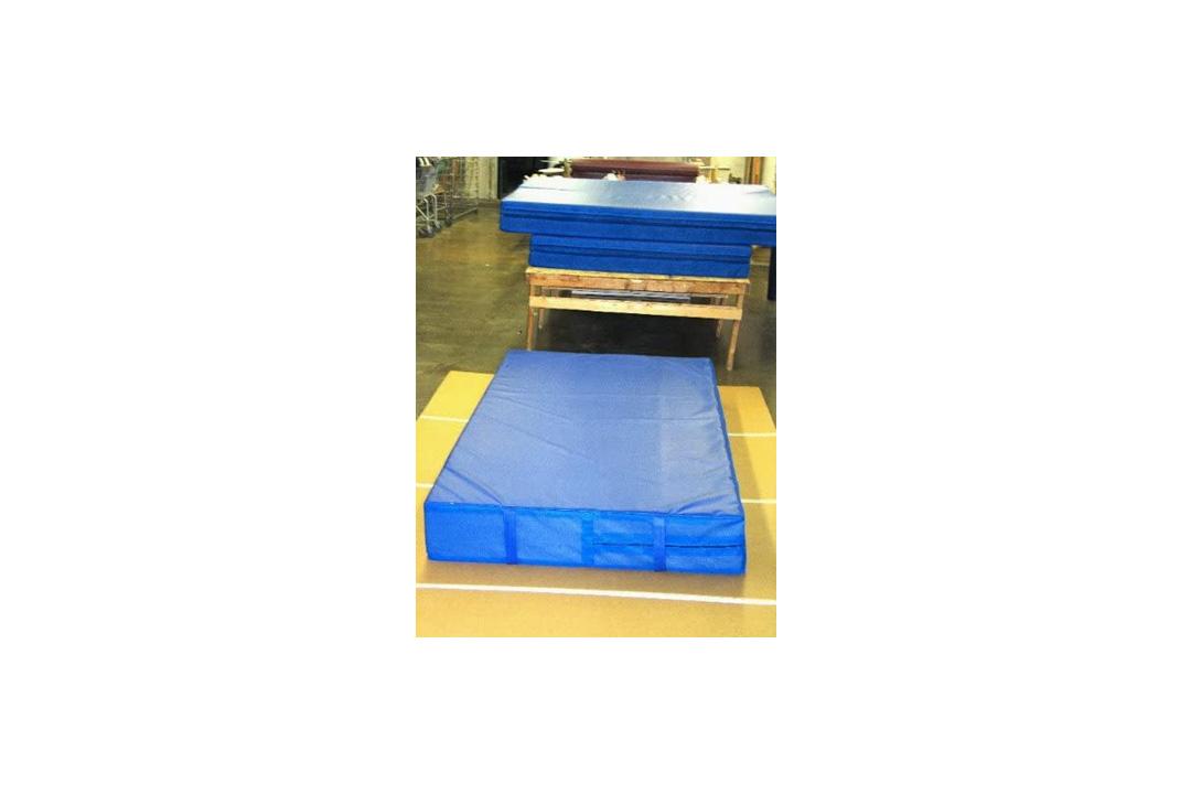 """BBS Blue 4'x8'x8"""" Landing Mat Gymnastics"""
