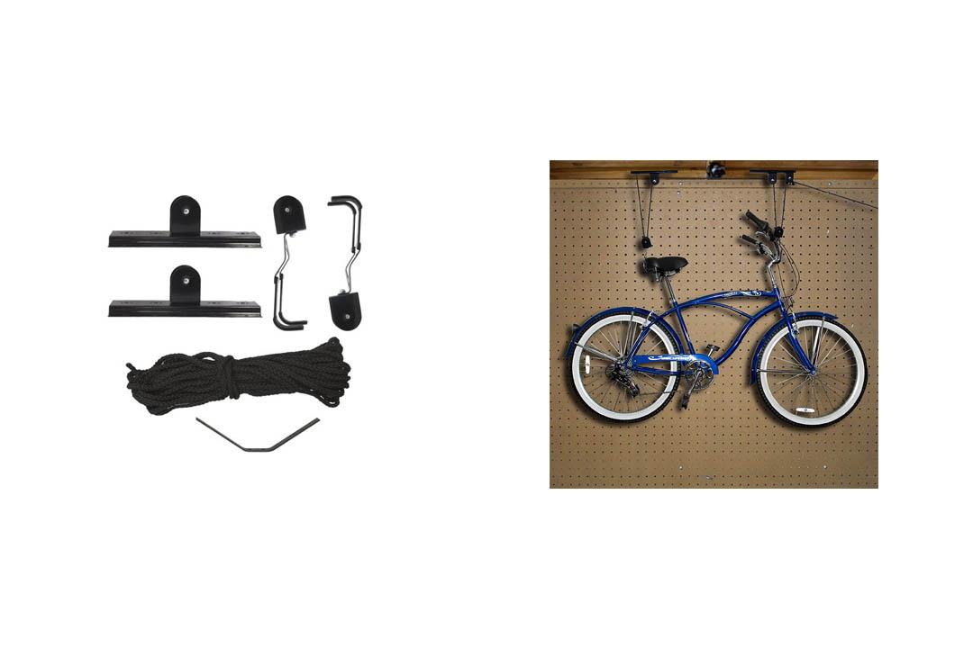Best Choice Products 2 Bike Lilt Hanger Hoists Ceiling Garage Bicycle Puller Mount Storage Closet