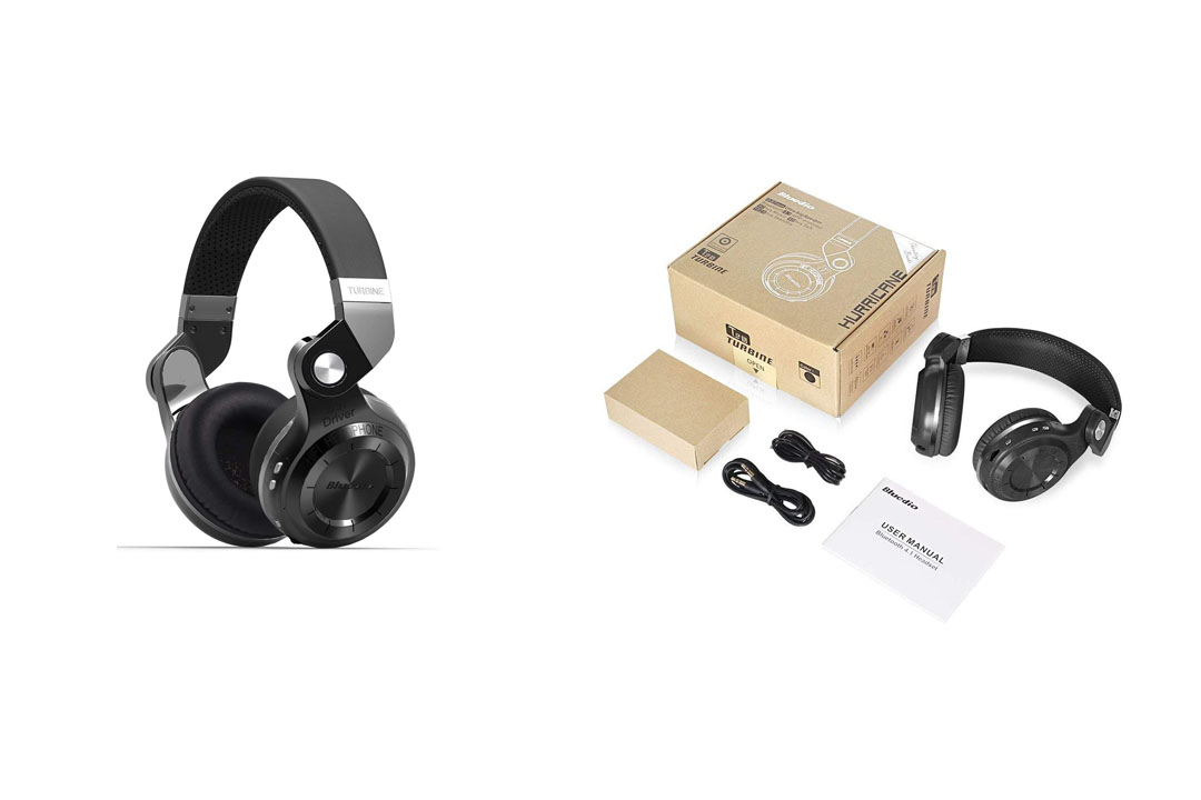 Bluedio T2s Bluetooth Headphones On-Ear with Mic, 57mm Driver Rotary Folding Wireless Headset