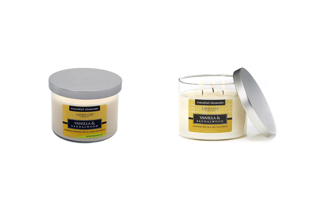 Candle-lite Essential Elements 14-3/4-Ounce 3 Wick Candle