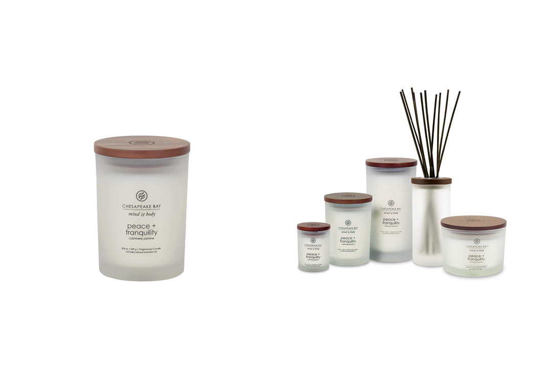Chesapeake Bay Candle Mind & Body Collection Medium Jar Scented Candle, Peace + Tranquility