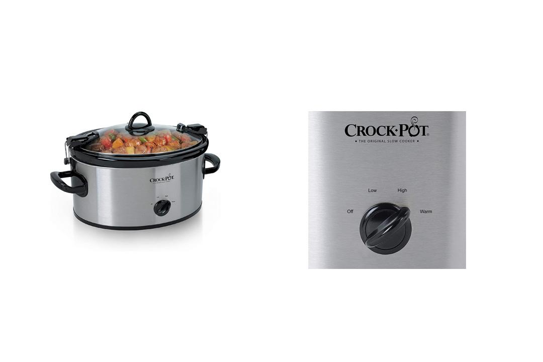 Crock-Pot SCCPVL600S Cook' N Carry 6-Quart Oval Manual Portable Slow Cooker