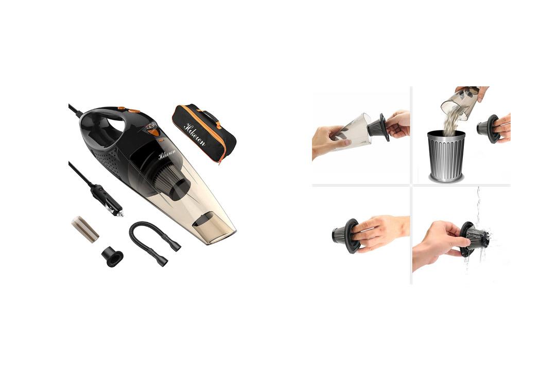Hikeren Car Vacuum Cleaner Handheld Wet&Dry Multifunctional Auto Vacuum Cleaner