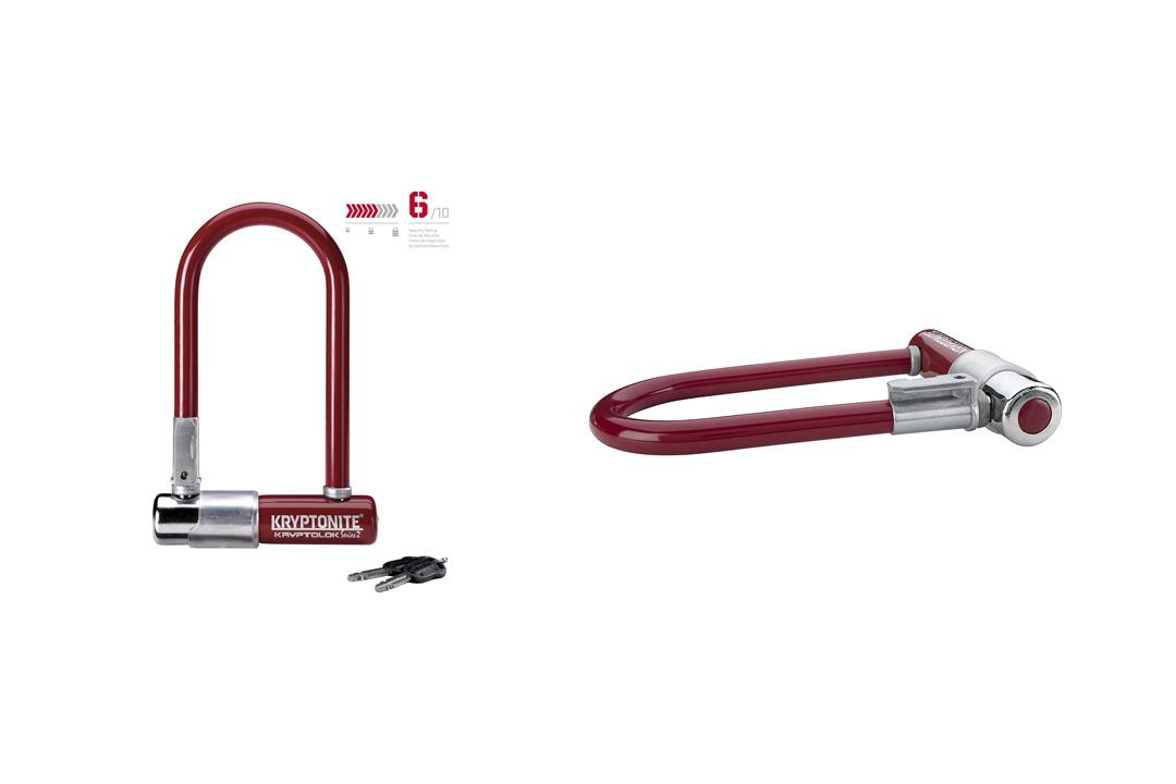 Kryptonite Kryptolok Series 2 Mini Bicycle U-Lock with Transit FlexFrame Bracket, 3.25 x 7-inch