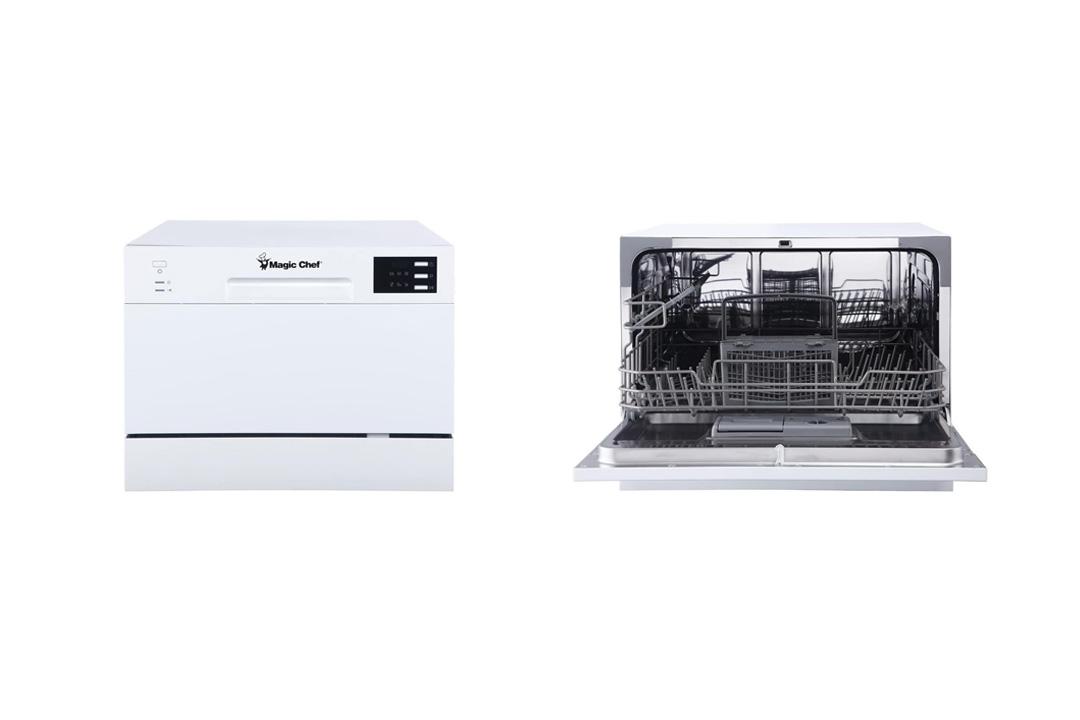 Magic Chef MCSCD6W5 6 Plate Countertop Dishwasher