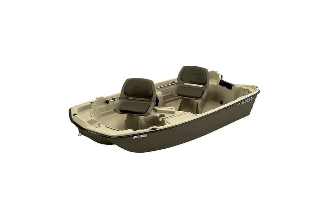 Sun Dolphin Pro Fishing Boat (Cream/Brown, 10.2-Feet)