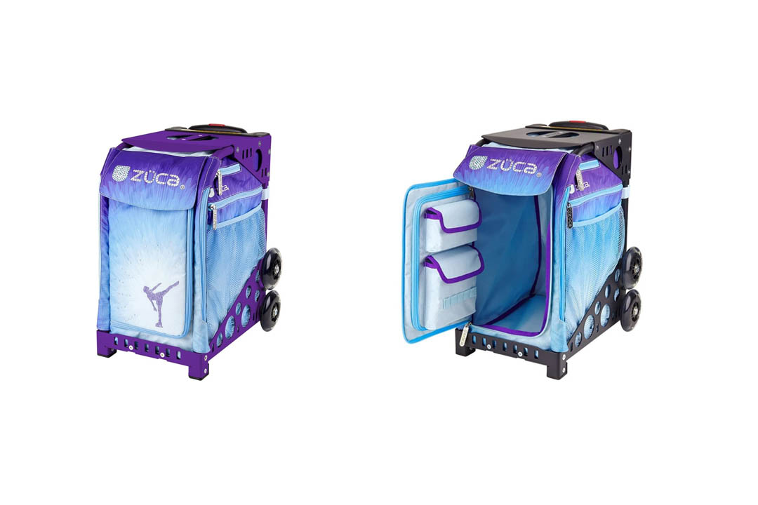 Zuca Ice Dreamz Sport Insert Bag & Purple Frame with Flashing Wheels