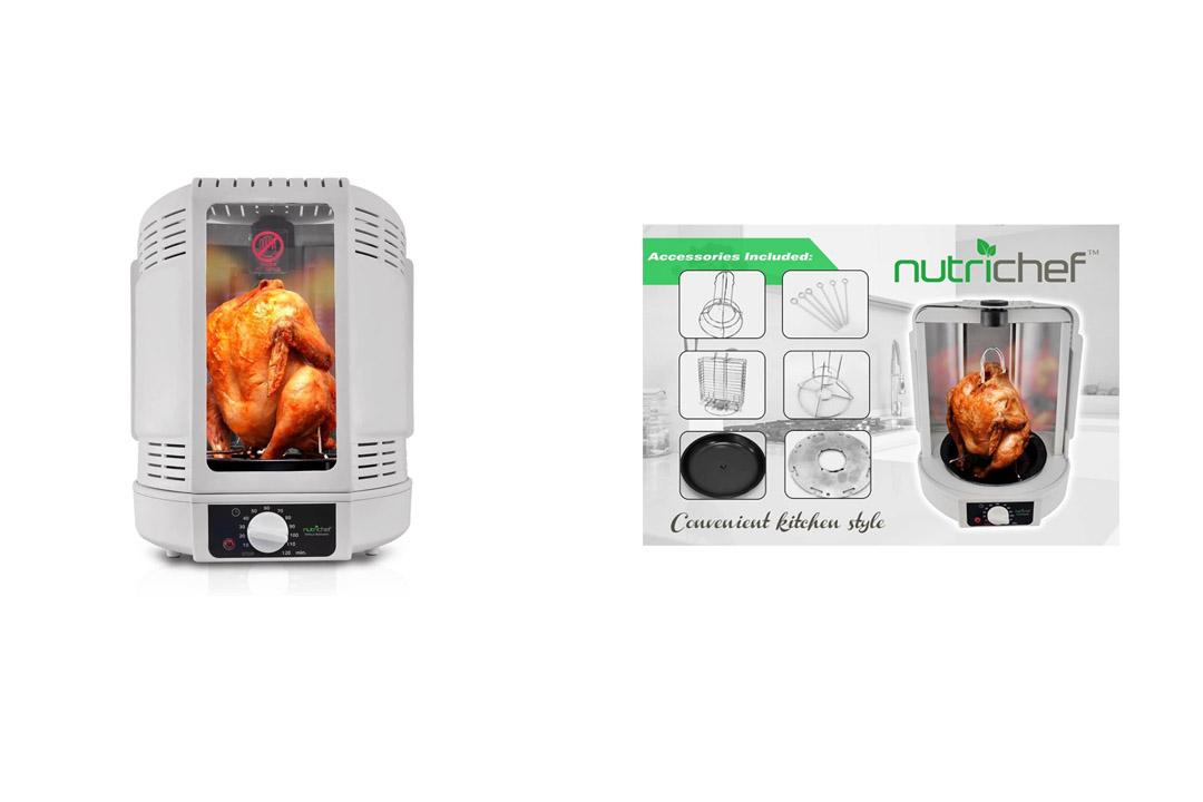 NutriChef-Vertical-Rotisserie-Oven-Roaster-Rotating-Shawarma-Kebab-Machine-PKRT15-White