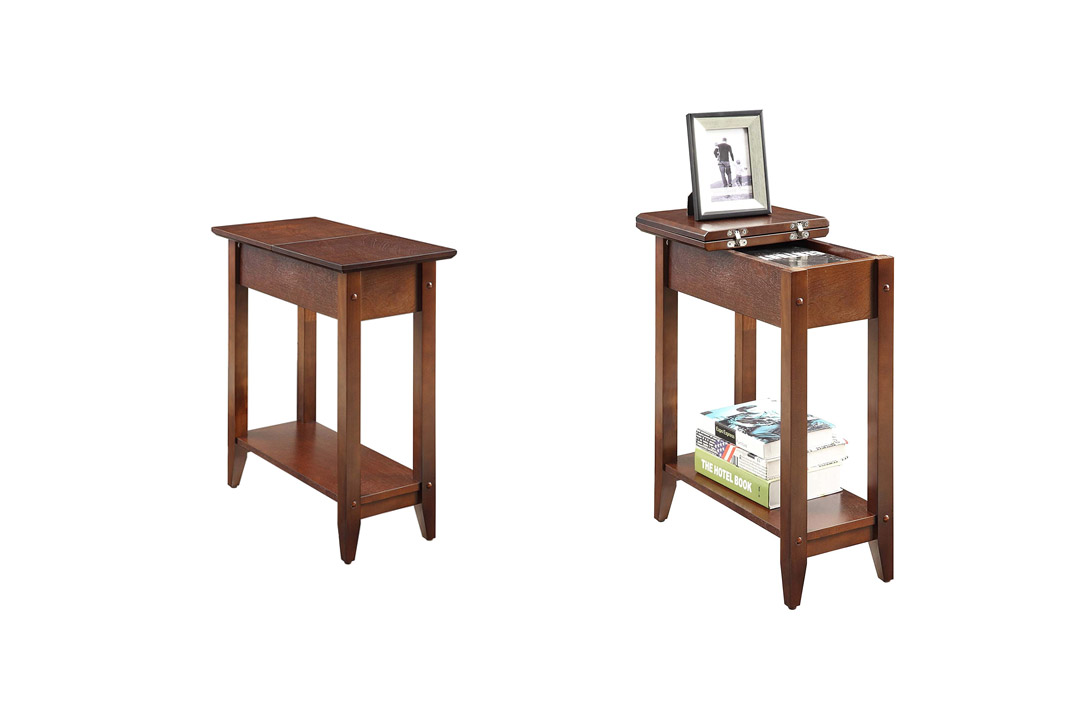 Convenience Concepts Heritage Flip Top End Table, Espresso
