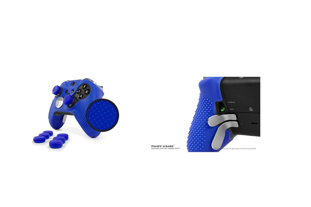 ElitePro Grip STUDDED Skin Set for Xbox One ELITE Controller by Foamy Lizard