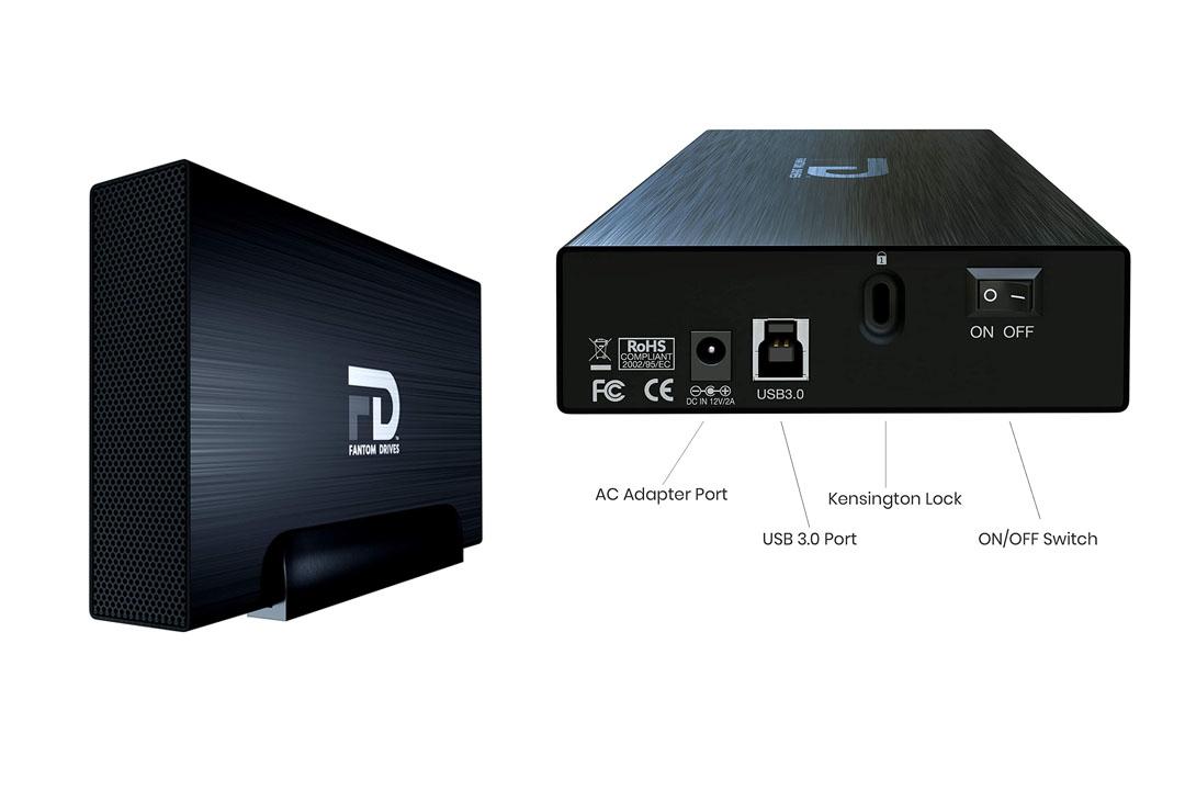 Fantom Drives Gforce3 Pro 2TB 7200 RPM USB 3.0 Aluminum External Hard Drive