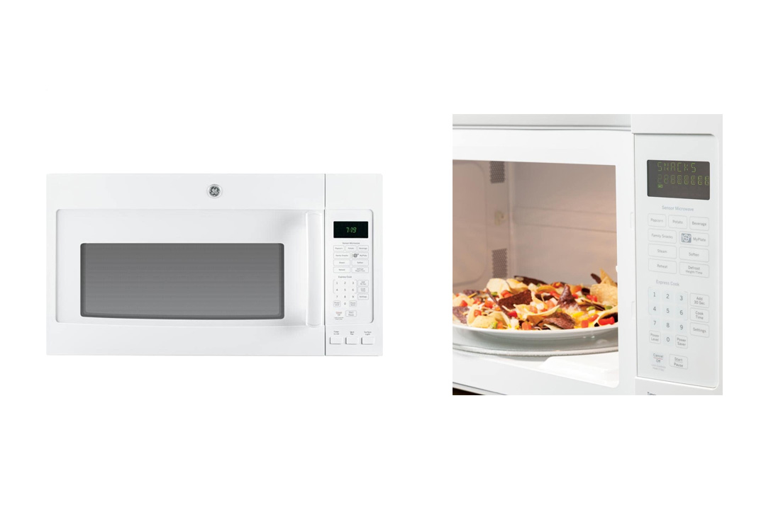 Ge MICROWAVES 1029497 1.9 Cu. Ft. Over-The-Range Microwave Oven, Stainless, 1100 Watts