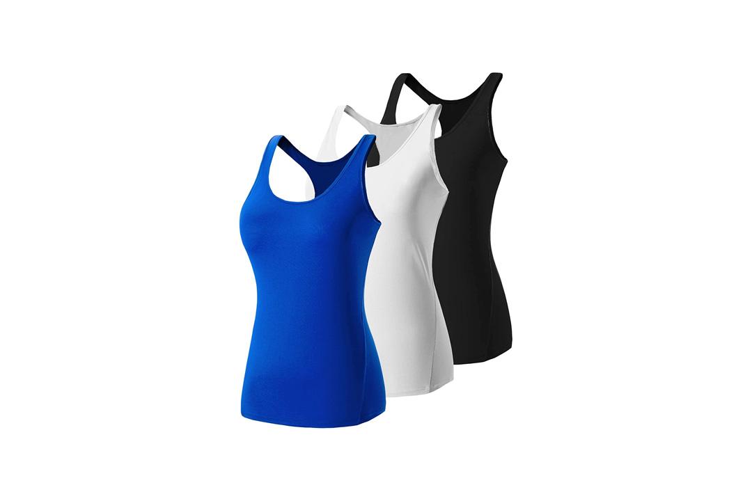 Lavento Women's Tank Top Workout Running Yoga Racerback Sleeveless T-Shirts
