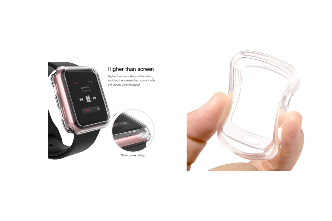 OULUOQI for Apple Watch Case 38mm, Clear Soft TPU Protector iWatch Case Cover
