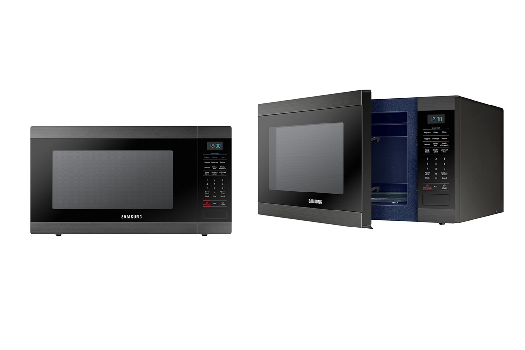 Samsung MS19M8000AG/AA Large Capacity Countertop Microwave Oven, Black Stainless Steel