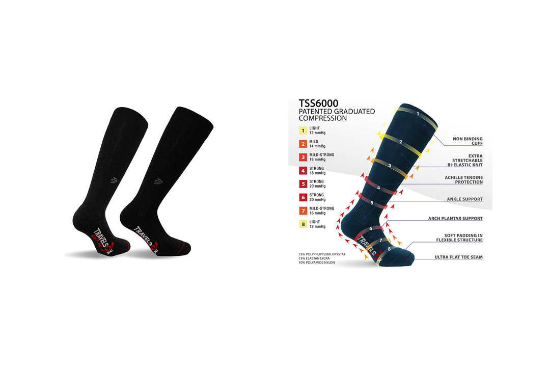Travelsox TSS6000 The Original Patented Graduated Compression