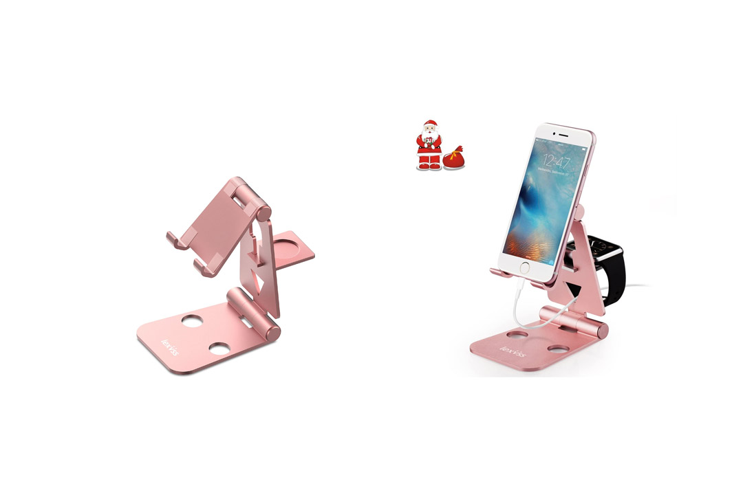 iPhone Holder for Desk, Lexvss Foldable Cell Phone Stand Adjustable Stand Tablet