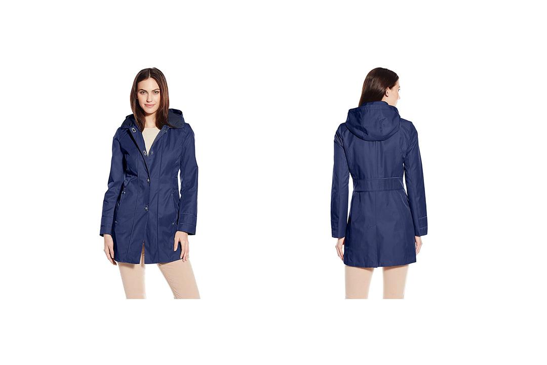Anne Klein Women's Turn-Key Raincoat