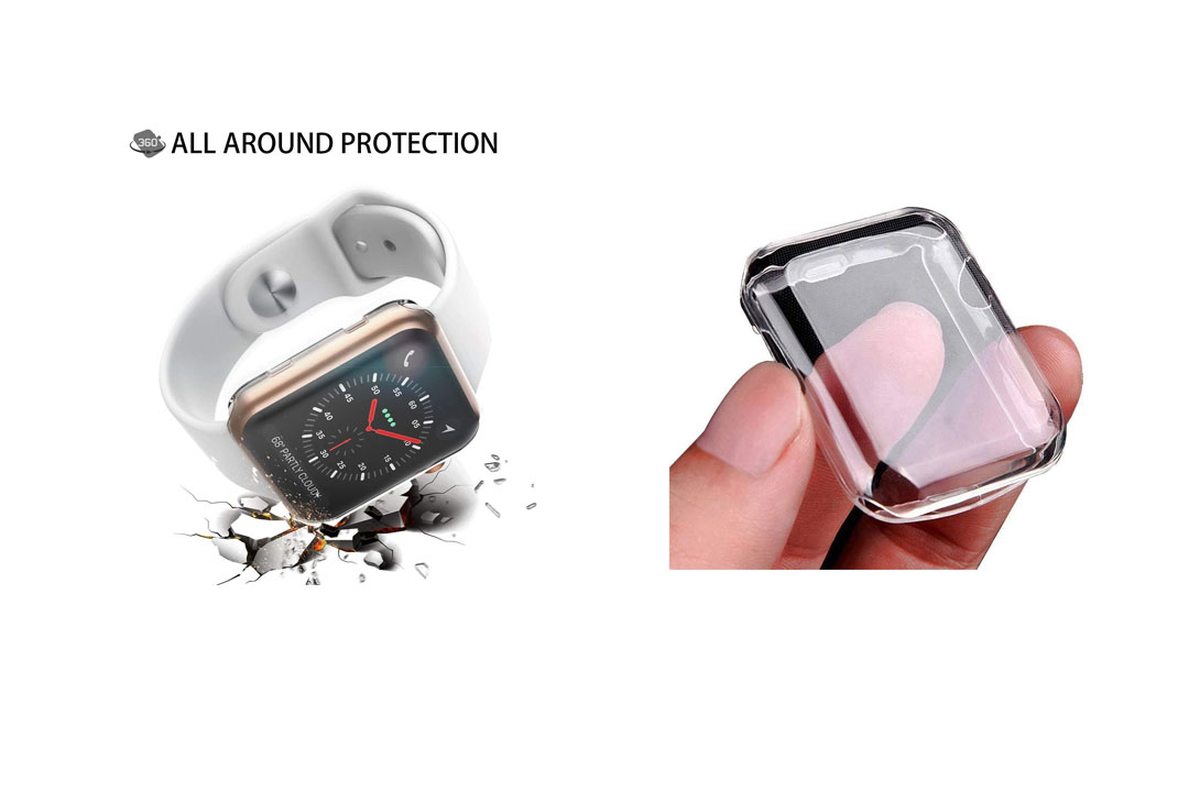 Apple Watch Series 2 & Series 3 Case 38mm, Monoy Slim HD PC Screen Protector