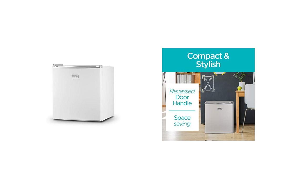 BLACK+DECKER BCRK17W Compact Refrigerator Energy Star Single Door Mini Fridge with Freezer